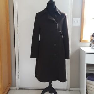 Andrew Marc Brown A- Line Coat Size 8